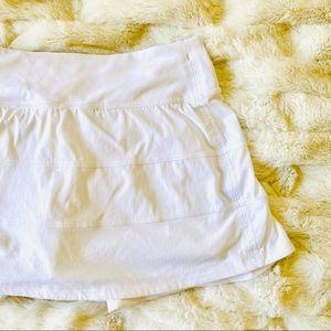 Lululemon Pace Rival Skirt Skort White 4